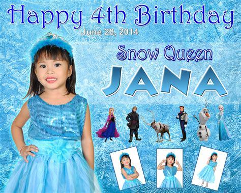 janas  birthday snow queen frozen cebu balloons