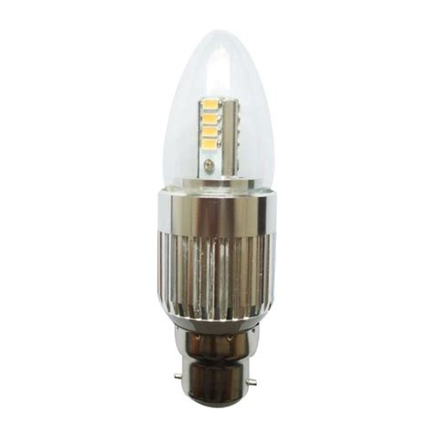 dimmable led 7w b22 candle bulbs bayonet candelabra light