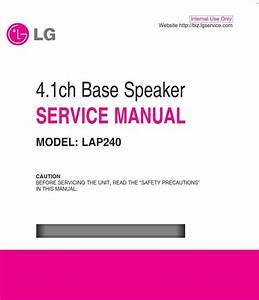 Lg Lap240 Soundplate System Original Service Manual And