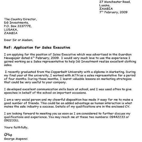 sample job application letter  nigeria skillful cover