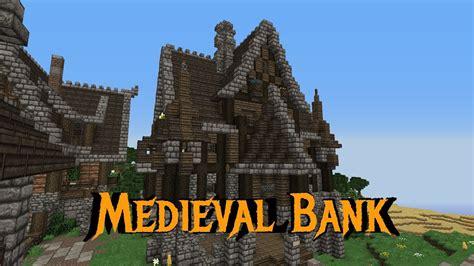 minecraft gundahar tutorials medieval bank  youtube