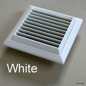 Outside Vent Grille White Wall Ventilation Vent Damp Mould