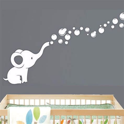 stickers de pour chambre elephant bubbles baby wall decal vinyl wall nursery room