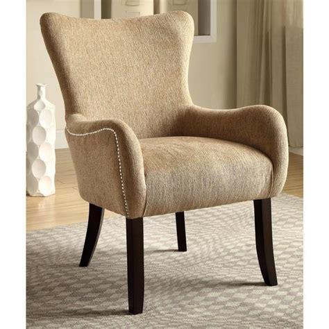 shop casual beige living room accent chair  nailhead