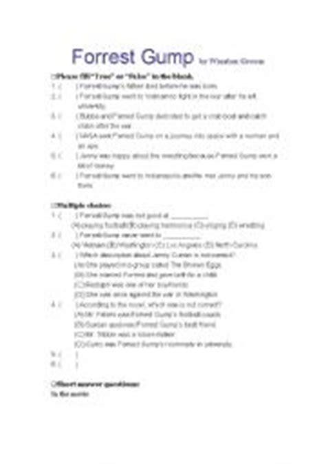intermediate esl worksheets forrest gump worksheet 814 | thumb910020205346052