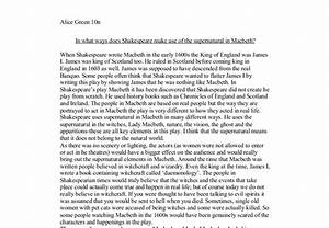 An Essay About Health Supernatural Forces In Macbeth Essay High School Admission Essay also Sample Proposal Essay Supernatural In Macbeth Essay Research Paper Report Supernatural In  Examples Of Essay Proposals