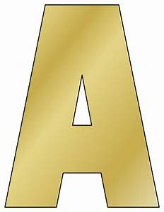 printable cut out letters With gold letter printing