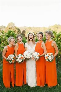 Orange bridesmaid dresses - Add a fresh & fun colour