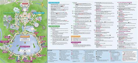 epcot map walt disney world updated january