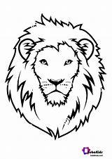 Lion Coloring Face Animal Bubakids Ads Google Scaled sketch template