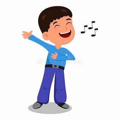 Sing Song Boy Illustration Vector Resolution Children