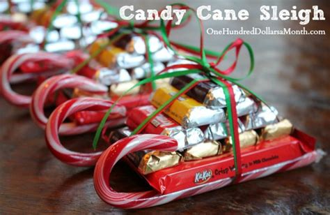 candy cane skeigh xmas craft easy crafts sleigh one hundred dollars a month