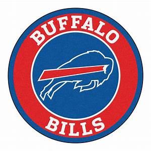 "Buffalo Bills Logo Roundel Mat - 27"" Round Area Rug"