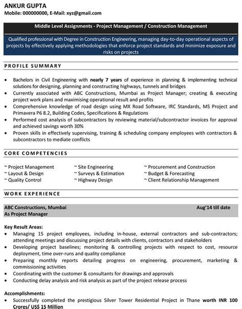 civil engineer resume exles exles of resumes