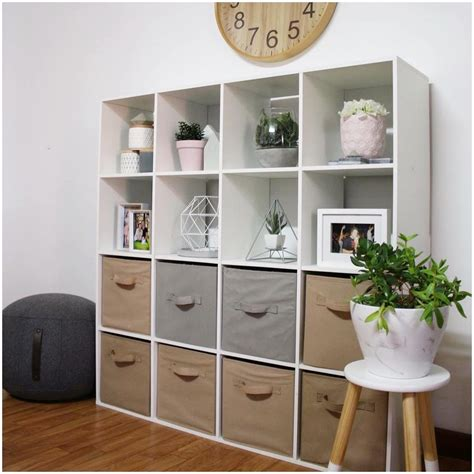 Floating Mdf Wall Mount Shelf Cube Lhll 50x15x27cm