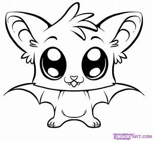 cute coloring pages | how to draw a cute bat step 6 ...