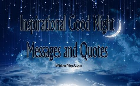 inspirational good night messages wishes quotes wishesmsg
