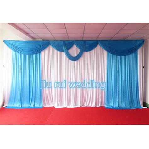 popular blue stage curtains buy cheap blue stage curtains