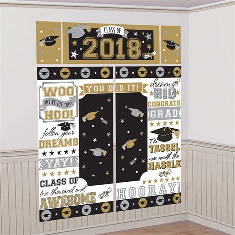 #shutterfly #diygradparty #graduation #graduationpartyideas check out these 7 easy graduation party ideas to make your day dazzle: 2018 Congrats Grad Wall Decorating Kit   Graduation party backdrops, Graduation party decor ...