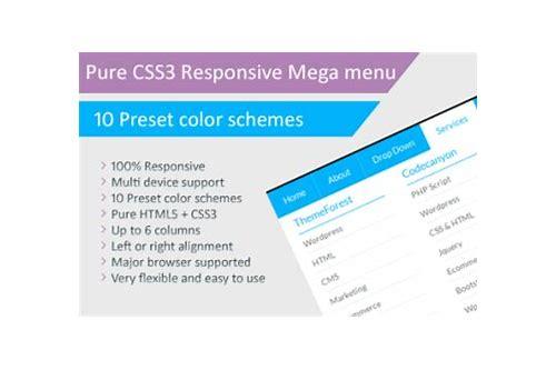 Pure css3 responsive mega menu free download :: rahearabonp