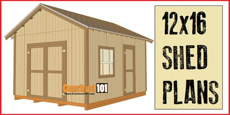 12 X 12 Storage Shed Plans Free by 12x16 Shed Plans Gable Design Construct101