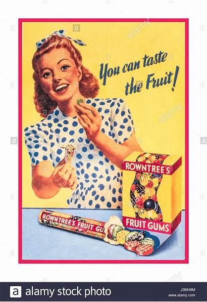 1950s Advertising Advertisement Retro Fruit 1950 Rowntrees