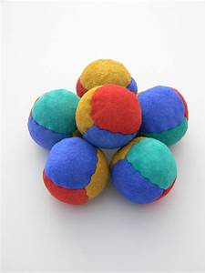 Leather Juggling Balls, 4 panel suede juggling beanbags