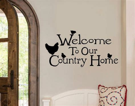 Decor Vinyl by Welcome To Our Country Home Chicken Decor Vinyl Decal Wall