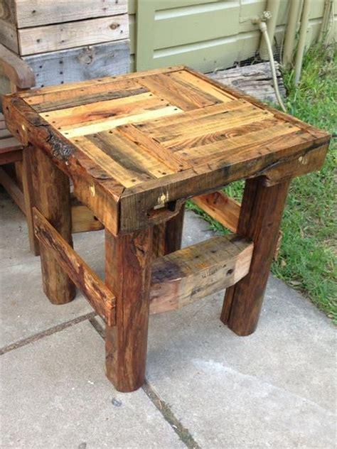 diy wood end table wooden pallet end tables pallets designs