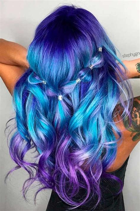 30 Trendy Styles For Blue Ombre Hair Magical Hair Colors