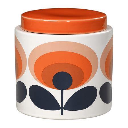 orange kitchen storage jars buy orla kiely 70s oval storage jar 1l orange amara 3764