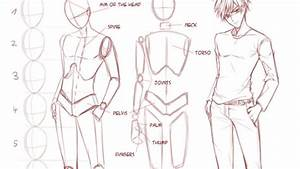Drawing Anime Body Proportions Tutorial Male Proportions ...