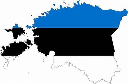 Estonia Flag Map Clipart Stroke Transparent Flags