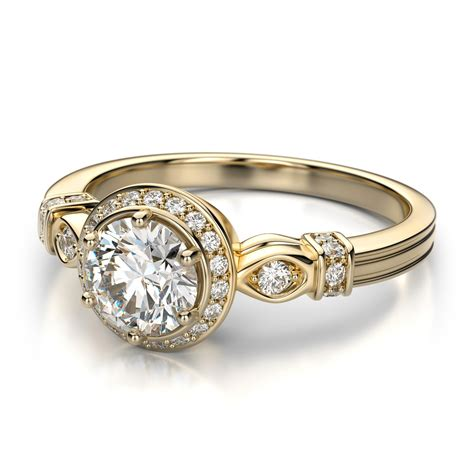 engagement ring gold vintage antique gold engagement ring ipunya