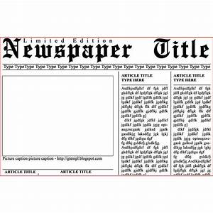 Newspaper layout templates excellent sources to help you for Free printable newspaper template for students