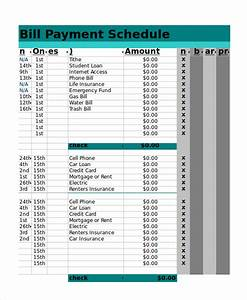 Excel schedule template 11 free pdf word download for Car payment schedule template