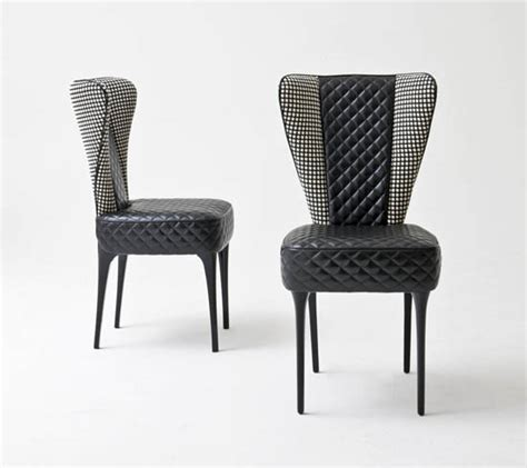modern upholstered dining chair high back wing dining