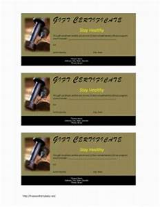 fitness gift certificate With personal trainer gift certificate template