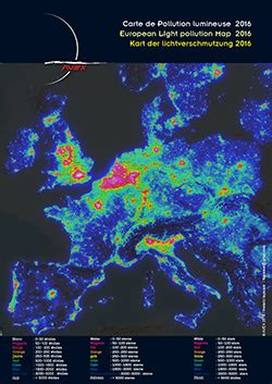 Carte Pollution Lumineuse Info by Europeean Light Pollution Map Avex 2016 Les Dossiers Avex