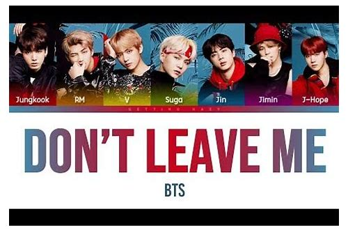 By bhints || Bts Don't Leave Me Mp3 Download Matikiri