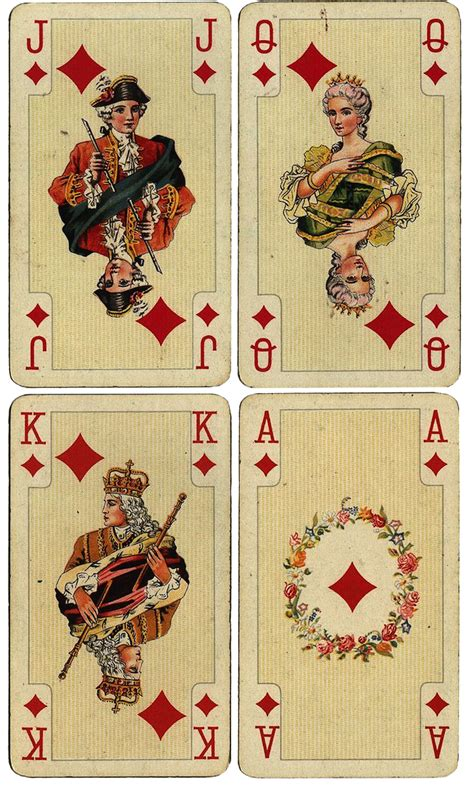 Antique French Playing Cards  Free Large Printables