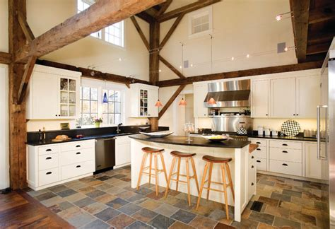 slate flooring kitchen equestrian estate farmhouse kitchen boston by 2300