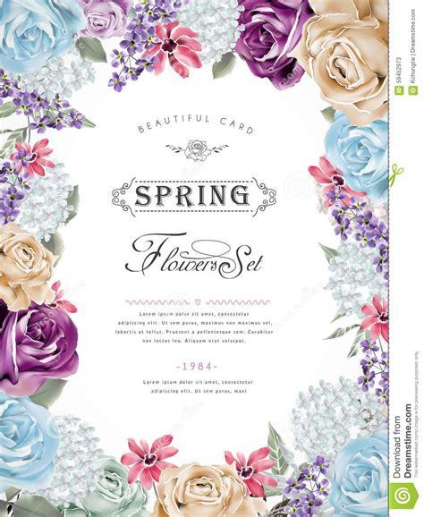 Wonderful Floral Poster Design Stock Illustration