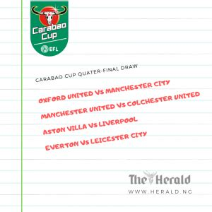 Carabao Cup Quarter-Finals: Who plays who?