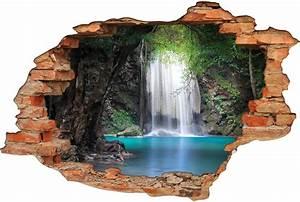 Image Trompe L Oeil : stickers trompe l 39 oeil 3d chute d 39 eau pas cher ~ Melissatoandfro.com Idées de Décoration