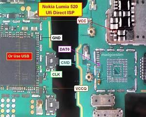 Pinout Direct Emmc Nokia Via Ufi Box