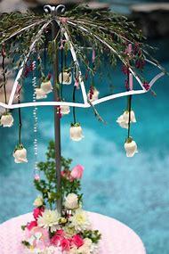 bridal shower umbrella centerpiece
