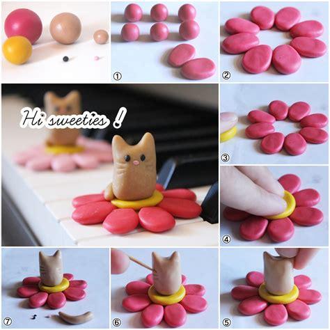 faire des bijoux en pate fimo 1 fimo tutorial sweet cat in a flower hi sweeties