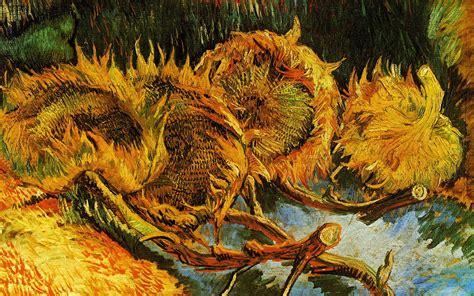 Wallpaper Vincent Van Gogh Still Life Sunflowers