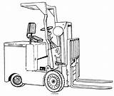 Forklift Trucks Drawing Fork Lift Electric Getdrawings sketch template